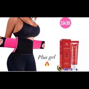 Pink New Sweat Waist Trainer with Burning Gel 🔥